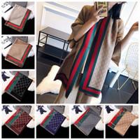 Wholesale girls wraps for sale - Group buy Women Stripe Patchwork Scarves Lady Outdoor Plaid Wraps Warm Neck Scarf Winter Neckerchief Blankets styles RRA1770