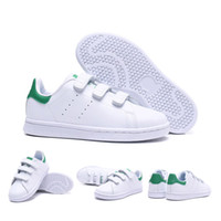 Wholesale fashion shoes for girls children resale online - New kids smith children parent child casual shoes For baby boy girl fashion stan sneaker white multi running outdoor trainer shoe