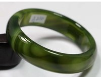 Wholesale natural green jadeite bangle for sale - Group buy VERY FINE RARE NATURAL DARK GREEN JADEITE stone BRACELET BANGLE