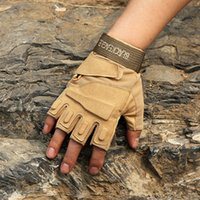 Wholesale outdoor tactical gloves resale online - Tactical Gloves Half Finger Gloves Airsoft Fingerless Gloves for Outdoor Sports Hiking Camping Cycling Riding Racing