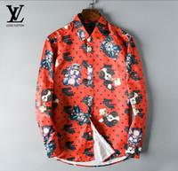 erkekler mandalina gömlekleri toptan satış-Erkek Moda Gömlek Uzun Kollu Katı Renk Rahat Gömlek 2019 Kış Yeni bluz İnce mandarin yaka genç OverShirt 5624