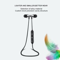 Wholesale waterproof headphones cables resale online - Magnetic Attraction Bluetooth Earphone Sweatproof Waterproof Sport Mini Headphone with Charging Cable Fashion Young Earphones