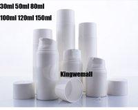 havasız şişe beyaz toptan satış-Ücretsiz nakliye -300PCS / LOT 30ml Beyaz Plastik Havasız Pompa Şişe, 30cc PP Havasız Konteyner, 30ML Losyonu Havasız Şişe