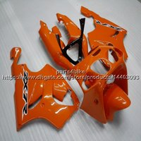 Wholesale kawasaki zx7r orange resale online - Custom Screws Gifts orange motorcycle Fairing For Kawasaki ZX7R ABS plastic motor panels kit