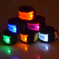 Wholesale rescue strap resale online - High Quality Waterproof Outdoor Running Sports Safety Led Flashing Bracelets Arm Band Rescue Bangle Wrist strap Arm Belt