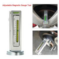 ruedas volvo al por mayor-Medidor magnético ajustable herramienta universal Camber Castor puntal de alineación de ruedas del carro del coche comba Castor apoyo de rueda de alineación automática