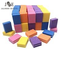 mini bloques de limas de uñas al por mayor-100 unids Profesional Mini Archivo de Uñas Color Buffing Lime un Bloque de Lijado Ongle Polaco Esponja Nail Art Tips Herramienta Buffer File