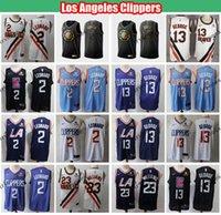 ingrosso camicia leonard kawhi-2019 Los Angeles Clippers Città Kawhi Leonard 2 Paul George 13 di Lou Williams 23 Edition pullover di pallacanestro Mens Camicie cucite S-XXL