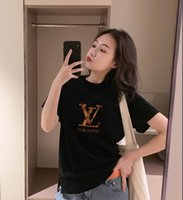 Wholesale summer clothes for women shorts resale online - 2019 Tops luxury Designer Brand Paris printing logo tshirts Pure cotton t shirts for mens women Summer woman short Tee poloshirt clothing