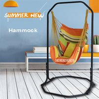 Wholesale swings for home for sale - Group buy Fashion Garden Home Balcony Iron Canvas Hanging Chair Bearing KG Swing Hammock For Children Adult with Bracket cm Height