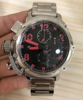 Wholesale fold boat resale online - baodewatches offer Men Automatic Mechanical Watch Black Silver Rose Gold Boat Stainless Steel Brown Sports mm U51 Watches