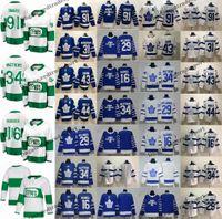 kadri mayo toptan satış-2019 St Pats Toronto Maple Yaprakları John Tavares Auston Matthews Mitchell Marner William Nylander Andersen Morgan Rielly Kadri Hokey Forması