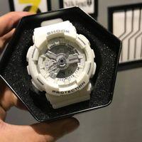 Wholesale original watch boxes for sale resale online - Hot sale high quality digital LED sport watch for men shock watch original box all functional work rubber strap designer quartz watches