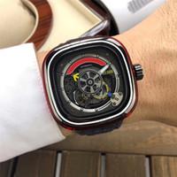 мужская кожаный ремешок для часов оптовых-Мужские наручные часы с ограниченным тиражом 2019, автоматические мужские квадратные часы, кожаный ремешок для часов, мужские наручные часы пятницы