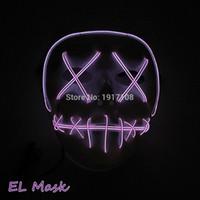 siyah dans partisi maskesi toptan satış-EL Yaratıcı Holloween Maske El Tel Led Işık Hayalet Dans Parlayan Maske Erkekler Ve Kadın Siyah Maske Parti Dekorasyon Için