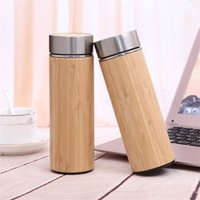 Wholesale thermos thermal bottle for sale - Natural Bamboo Tumbler ml ml Stainless Steel Liner Thermos Bottle Vacuum Flasks Insulated Bottles Coffee Tea Mug Bamboo Cup