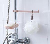 Wholesale tier bathroom shelf resale online - Sink Hanging Storage Rack Storage Holder Sponge Bathroom Kitchen Faucet Clip Dish Cloth Clip Shelf Drain Dry Towel Organizer