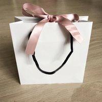 bracelets boîte pandora achat en gros de-Sac de papier ruban rose mode pour bracelet et collier coffret femmes Original Pandora Bijoux Perle Charme Emballage extérieur.