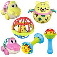 juguete de goma viejo al por mayor-Los bebés de 0 a 3 años de edad apaciguan el traqueteo de goma blanda dientes de goma juguetes molares bebé preescolar juguetes educativos regalo Comfort juguete
