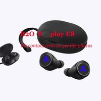 mp4 kulaklıklar toptan satış-Kökeni Süper kalite BO oyun E8 kablosuz bluetooth kulaklık kulaklık sesler azaltma kablosuz kulakiçi kulak TWS kulaklık android için ISO