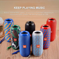 Wholesale portable waterproof wireless bluetooth speaker resale online - TG117 Bluetooth Outdoor Speaker Waterproof Portable Wireless Column Loudspeaker Box Support TF Card FM Radio Aux Input Car Audio