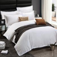 Wholesale pure linen bedding resale online - 100 pure cotton tc luxury hotel linen four piece bed spread bedding set