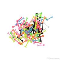 18g dudak delici toptan satış-18G Punk Labret Dudak Yüzük Renkli Alaşım Kaş Dil Tragus Küpe Topu Spike Helix Bar Vücut Piercing Takı Lob Yüzükler