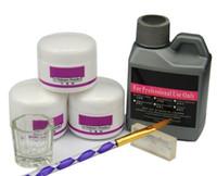 ingrosso kit di polvere acrilico-Vendita calda 7 Pz / set Acrilico Polvere Acrilico Kit Nail Crystal Polimero Acrilico Per Unghie Set Per Manicure