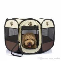 ingrosso canili portatili-Nave da US Soft Dog Puppy House Tenda pieghevole per animali domestici Dog House Cage Dog Cat Tenda Box Cuccia Kennel Outdoor Supplies