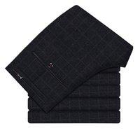 платья для мальчиков оптовых-Men's business casual dress suit pants Men's Slim Classic British Plaid Casual Pants Hot trousers