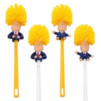 Wholesale type toilet brush for sale - Group buy Donald Trump Toilet Brush set with base holder Make Your Toilets Great Again Shower Room Funny Brushes Cleaning Tools sets LJJA3746
