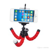octopus kamerastativ großhandel-MOQ: 100 stücke Mini Flexible Kamera Handyhalter Flexible Octopus Stativ Halterung Ständer Halter Monopod Styling Zubehör