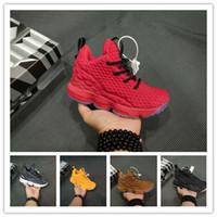 nouvelle arrivée chaussures de sport garçons achat en gros de-2019 Nouveaux Enfants garcon de basket-ball Cendres Ghost james 15 Rouge Noir Garçons Entraînement Arrivée Sports Sneakers 15s Trainer enfants James