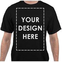 imágenes de vestimenta casual de hombres al por mayor-Agregue su propio nombre de texto personalizado Mensaje personalizado o imagen Camiseta para hombre Vestido casual Camiseta para hombre de alta calidad5xL