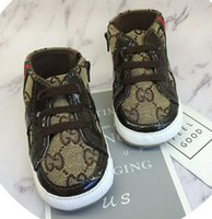 Wholesale boys warm shoes resale online - 2019 Brand New Newborn Baby Boy Girl Soft Sole Crib Shoes Warm Boots Anti slip Sneaker PU Breathable Solid First Walkers M