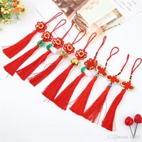 Wholesale antique chinese handles for sale - Group buy Chinese Knot Craft Supplies Bright Red Car Hanging Ornaments High Jubilation Grade Pendant Manual Weave Spring Festival xxC1