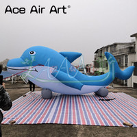 Wholesale dolphin promotions for sale - Group buy 7 meters Long blue and white outdoor event advertising gaint inflatable dolphin model inflatable animal for aquarium zoo promotion