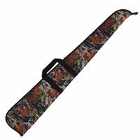 naylon taşıma çantası toptan satış-Tourbon Avcılık Taktik Av Tüfeği Vaka Gun Aralığı Kayma Yastıklı Koruma Çantası Taşıma Ağır 128 CM Camo Naylon Silah Aksesuarları # 324477