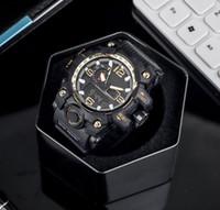 sh reloj al por mayor-CSO marca reloj para hombre street fashion G-SH OCK reloj de lujo esfera negra personalidad elegante para hombre relojes electrónicos correa de cuero caliente casual