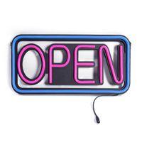 ingrosso segni della birra da baseball-LED Open Sign LED Business Open Sign Cartellone pubblicitario Electric Display Sign Two Modes Lampeggiante Steady Light per Business Walls Window S