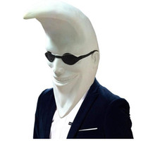 Wholesale full moon cosplay online - Mcdonald Moon Men Latex Mask Full Head Halloween Banana People Rubber Mask Party Holiday Comedy Masquerade Party Cosplay Props