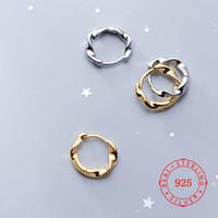 pendientes de aro de china al por mayor-Fabricación de China 925 joyería de plata esterlina buena calidad chapado en oro pendientes de aro moda mujer regalos al por mayor