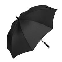 sombrilla comercial al por mayor-BG 2017NewArrive gran paraguas de mango largo para hombre y mujer comercial a prueba de viento al aire libre familia Golf paraguas Rain Stick automático