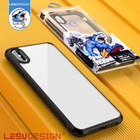acryl-handy großhandel-LEEU DESIGN Fallschutzabdeckung klarer Acryl-TPU-Hybrid-Schutzhülle fürs Handy für iPhone 5.8 6.1 6.5 xr xs max x 7 8 9 plus