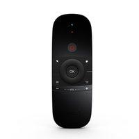 teclado inalámbrico por infrarrojos ratón al por mayor-Mini Control Remoto Inalámbrico Negro Infrarrojo Portátil Aprendizaje Air Mouse Motion Sense 2.4G Teclado Para Android TV Box PC