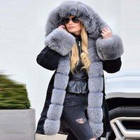casacos fishtail venda por atacado-Womens mangas compridas Faux Jacket Casaco de Inverno Parka com capuz Fishtail Overcoat abrigos mujer invierno 2019 as mulheres casaco de inverno