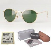 ingrosso driver di qualità-Montatura in metallo di alta qualità uv400 Occhiali da sole con lenti in vetro Occhiali da sole da donna con occhiali da sole di marca per occhiali da sole con custodia e etichetta