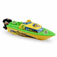 barcos de natación al por mayor-Niños Juguetes para barcos Juguetes para yates a batería Piscina acuática Piscina para barcos Barco eléctrico RC Barcos Juguete