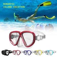 Wholesale gears set resale online - Snorkeling Goggles Snorkel Set Anti Fog Tempered Glass Scuba Snorkeling Mask Gear Water Sport Equipment