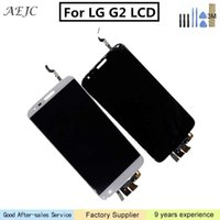 Wholesale lg g2 white touch screen resale online - For LG G2 D800 D801 D802 D805 D803 VS980 F320 LS980 Touch Screen Digitizer Assembly LCD Display White Black